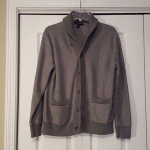 Banana Republic gray cardigan sweater Size large